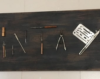 Vintage Sign made with drafting tools