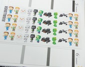 Pixelated Planner Deco Stickers l Deco Stickers l Decorative Stickers l Planner Stickers l Character Inspired Stickers