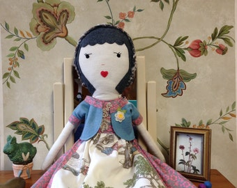Handmade Rag Doll / Cloth Doll / Rag Doll / Fabric Dolls /Custom Made Cloth Dolls / Dolls / Spoon Doll / Children's Toys / Stuffed Lovies