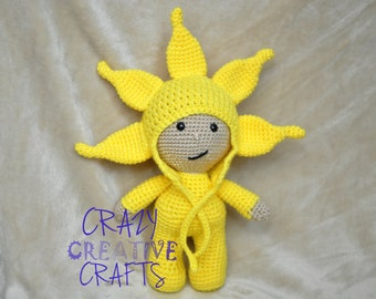 Crochet amigurumi sunshine doll