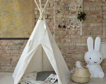 Tipi Kids Play Teepee Tent  MONOCHROME LittleNOMAD / wigwam WINDOW