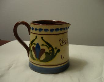 Torquay Motto Ware England Pottery Pitcher