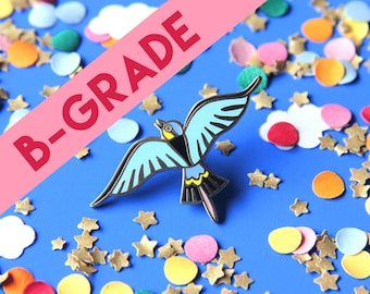 B-GRADE Pin bird - turquoise - hard enamel - lapel pin - pin badge
