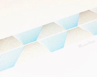 Kamoi mt deco 2017ss - Line gradation silver washi tape (T00963)