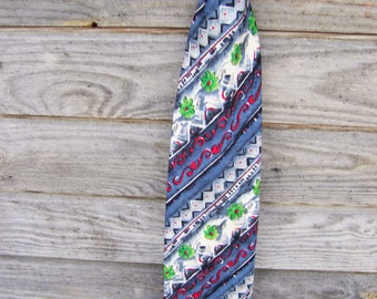 Mens Necktie Diagonal pattern, Free Shipping, Vintage Tie, Neckties, Man Necktie Mens accessories, Ties
