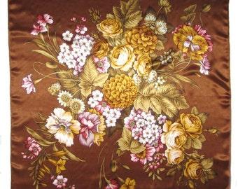 Russian Silk Shawl Italian Noon Brown - #110bb