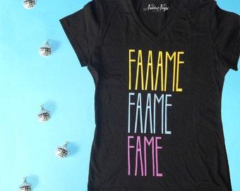 David Bowie t-shirt, David Bowie Fame t-shirt. Bowie women t-shirt, The White Duke tee, Ziggy Stardust t-shirt, Fame t-shirt.