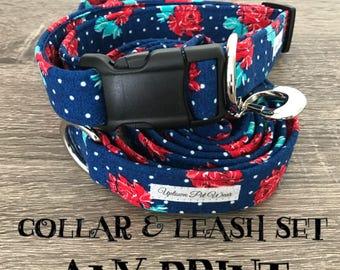 Collar and Leash Set | Any Print