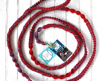 10' Red/ Stars and Stripes Dog Leash