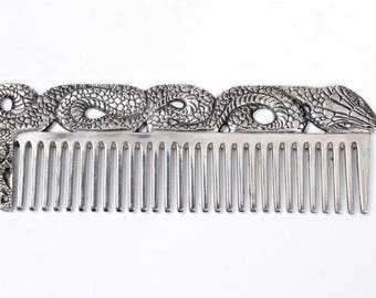 "Silver Hair comb ""Snake"""