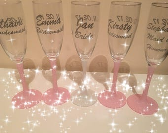 Champagne flute favours