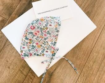 ANNA Handmade Liberty of London BRIMLESS Baby Bonnet