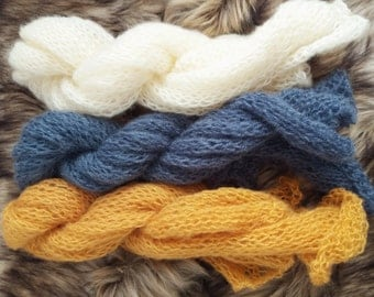 Luxury hand knitted Mohair wrap Choose Color Newborn Photography Prop, Knit Baby Wrap, Lacy mohair Wrap, Newborn Photo Prop