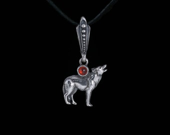 Howling Wolf Pendant, silver, handmade ..... Wolf Song Pendant, Wolf Song Necklace, Howling Wolf Necklace