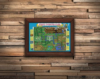 Zelda: Link to the Past Map Poster