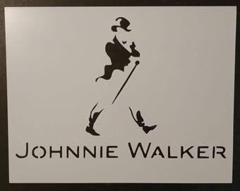 Johnnie Walker Scotch Whisky Whiskey Custom Stencil FAST FREE SHIPPING