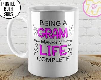 Gram Coffee Mug, Mothers Day Gift Mug, Being a Gram, Custom Coffee Mugs, New Gram Mug, Coffee Mug, Gram, Mother's Day, Gram to be Mug, Nana