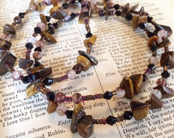 Brigid: creativity, passion, and willpower -- Healing Crystal Magic layering necklace