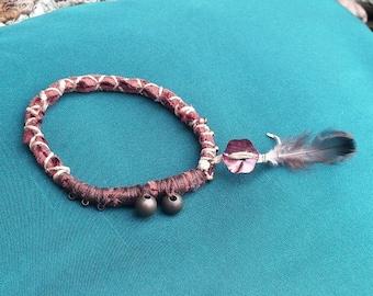 Contemplation - bracelet mother of Pearl flower
