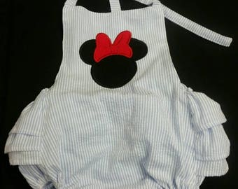 Minnie mouse romper, Minnie romper, romper, girls romper, handmade,girls clothing, infant clothing