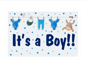 It's a Boy!! yard sign - New Baby Decorations - Baby Boy - Baby Shower Sign