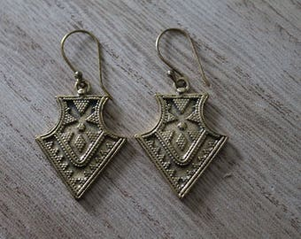 Pair of gypsy triangle earrings