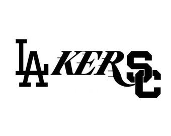 LAkerSC Vinyl Decal (Dodgers, Lakers, Trojans)