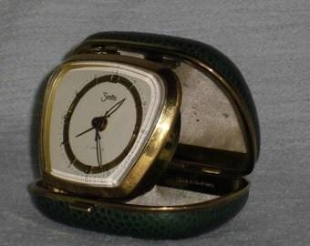 Vintage travel alarm clock ZentRa of mechanical travel alarm clock Pocket alarm