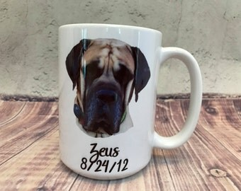 Customizable Ceramic Mug; 15oz; Dog photo