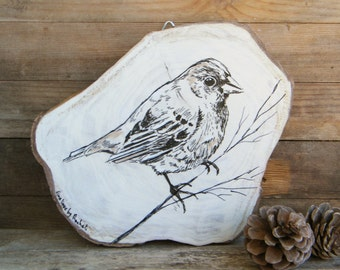 Woodland animals, Bird print, Bird wall art, Bird Wood picture, Hipster decor, Rustic wall sign, Country home decor, Wood sign, Dorm decor