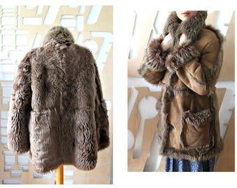 Vintage suede coat | Etsy