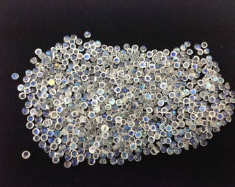 50pcs dicounted offer of 3mm round cabhochan white rainbow