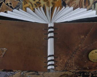 Saddle Collection Blank Page Journal/Sketchbook - Medium Landscape