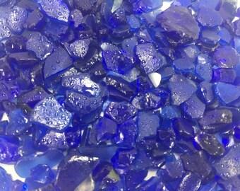 """Cobalt Blue Beach Glass """"Sand"""""""