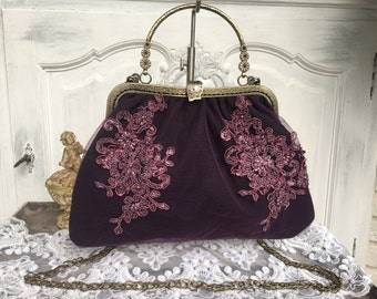 Bag, boho, evening bag, bow bag