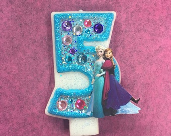 Frozen birthday candle / frozen birthday / first birthday candle / birthday candle / birthday candles / frozen cake topper / frozen party
