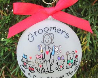 groomer ornament,groomer custom personalized ornament,groomer ornament,pet groomer ornament,gift of dog groomer,groomers gift, pet groomer
