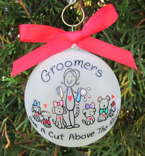Groomer ornamentgroomer custom personalized ornamentgroomer for A cut above pet salon