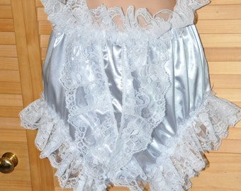 "DOUBLE layered silky satin BIG sissy knickers, waist to 42"", Sissy Lingerie"