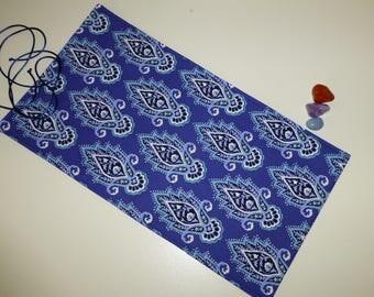 Lotus Leaf Tarot Bag, Lotus Flower Tarot Card Bag, Lotus Tarot Card Wrap, Tarot Card Wallet, Tarot Card Pouch, Lotus Flower Tarot Wrap,