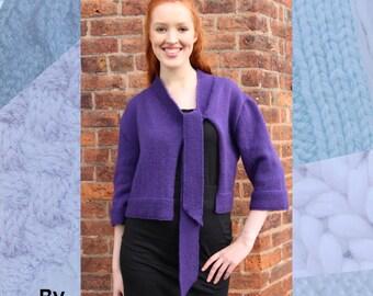 Bonnie Jacket Hand Knitting Pattern