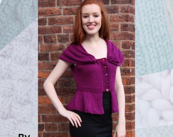 Madame Butterfly Top Hand Knitting Pattern