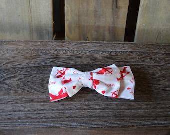 Large Valentine's Day Barrette, Valentine Barrette, Double bow barrette