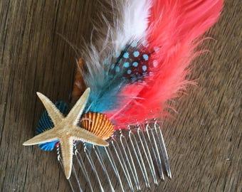 Hair comb - beach boho