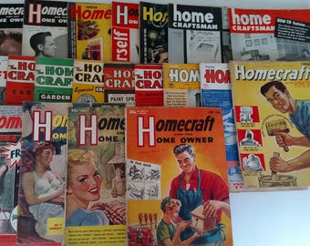 Vintage Homecraft And The Homeowner Magazine Dates Range 1950 through 1957, Qty. 20 Magazines