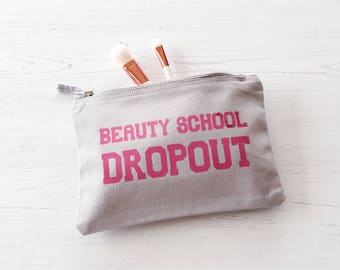 Beauty School Dropout make up bag, Grease Wash Bag, make up bag, Mother's Day Gift, gift for Mum, Grease Fan gift, gift for friend