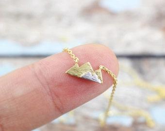 Gold Mountain Necklace, Dainty Mountain Pendant Necklace, Mountain Necklace, Birthday Gift,6027