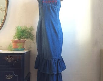 Denim dress with Ruffles
