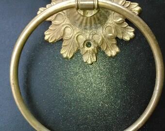 Vintage Brass Towel Holder