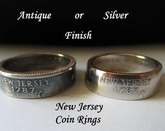 "New Jersey State Quarter Handmade ""Coin Ring "" **FREE SHIPPING**"